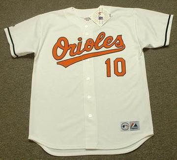 ADAM JONES Baltimore Orioles 2008 Home Majestic Throwback Baseball Jersey - FRONT