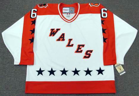 """MARIO LEMIEUX 1986 Wales """"All Star"""" CCM NHL Vintage Throwback Jersey - FRONT"""
