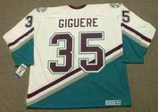 JEAN-SEBASTIEN GIGUERE 2003 CCM Vintage Home Anaheim Mighty Ducks White Jersey - BACK