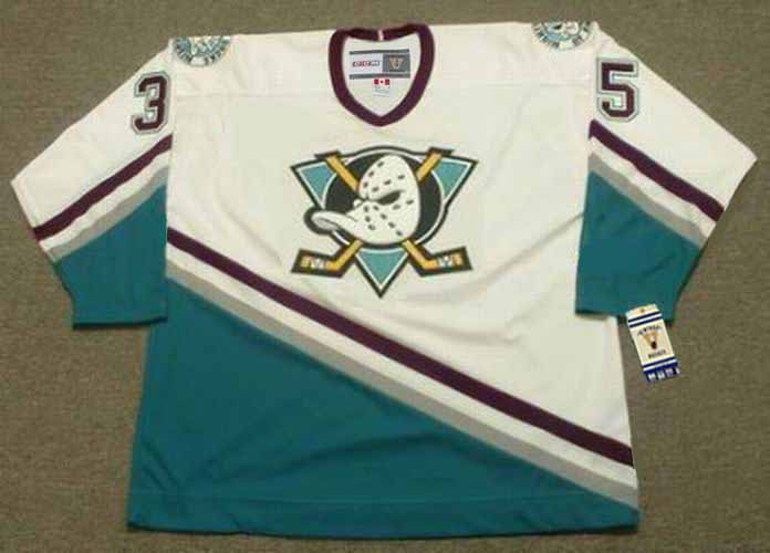 check out 76268 93c0a JEAN-SEBASTIEN GIGUERE Anaheim Mighty Ducks 2003 Home CCM NHL Vintage  Throwback Jersey