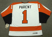 BERNIE PARENT Philadelphia Flyers 1974 CCM Vintage Throwback Home NHL Jersey - Back