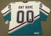 1990's CCM Vintage Home Customized Anaheim Mighty Ducks White Jersey - BACK