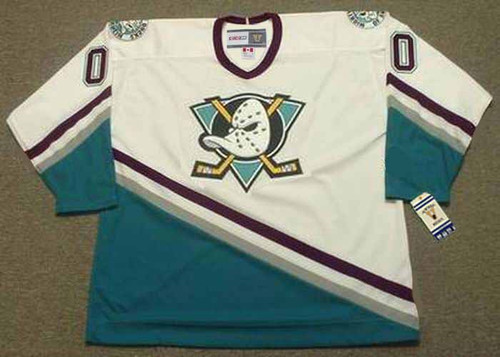 1990's CCM Vintage Home Customized Anaheim Mighty Ducks White Jersey - FRONT