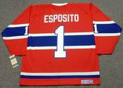 TONY ESPOSITO Montreal Canadiens 1968 CCM Vintage Throwback NHL Hockey Jersey