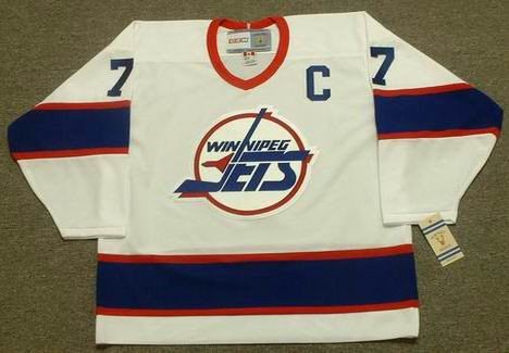 98a0e04ff KEITH TKACHUK Winnipeg Jets 1993 CCM Vintage Throwback Home NHL Hockey  Jersey - Custom Throwback Jerseys