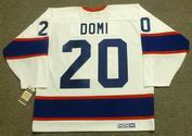TIE DOMI Winnipeg Jets 1993 CCM Vintage Throwback Home NHL Hockey Jersey