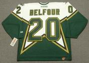 ED BELFOUR Dallas Stars 1999 CCM Throwback Home NHL Jersey