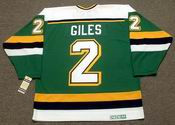 CURT GILES Minnesota North Stars 1990 CCM Vintage Throwback NHL Jersey