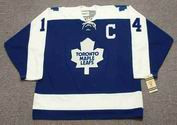 DAVE KEON Toronto Maple Leafs 1970 CCM Vintage Throwback NHL Hockey Jersey - FRONT