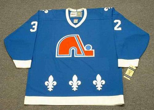 DALE HUNTER Quebec Nordiques 1985 Away CCM Vintage Throwback Hockey Jersey - FRONT