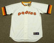 ALAN WIGGINS San Diego Padres 1984 Home Majestic Throwback Baseball Jersey - FRONT