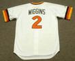 ALAN WIGGINS San Diego Padres 1984 Home Majestic Throwback Baseball Jersey - BACK