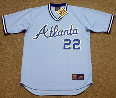 various colors 382b8 a7b3f BRETT BUTLER Atlanta Braves 1983 Majestic Cooperstown Throwback Baseball  Jersey