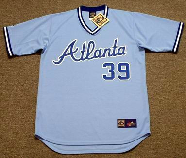 AL HRABOSKY Atlanta Braves 1982 Majestic Cooperstown Retro Baseball Jersey - FRONT