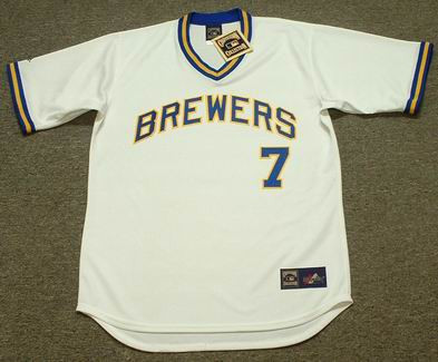 Don Money 1975 Milwaukee Brewers Cooperstown Home MLB Throwback Baseball Jerseys - FRONT