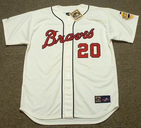 sale retailer 6b73e fa609 GUS BELL Milwaukee Braves 1960's Majestic Cooperstown Throwback Baseball  Jersey