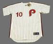DARREN DAULTON Philadelphia Phillies 1990 Majestic Cooperstown Throwback Home Baseball Jersey - Front