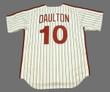 DARREN DAULTON Philadelphia Phillies 1990 Majestic Cooperstown Throwback Home Baseball Jersey - Back