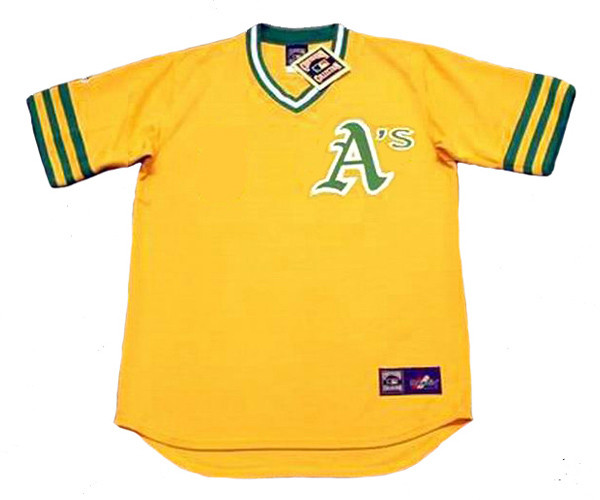 new product 024e1 54d52 OAKLAND ATHLETICS 1974 Majestic Cooperstown Throwback Jersey Customized