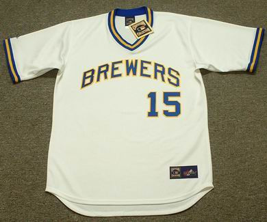 Cecil Cooper 1977 Milwaukee Brewers Cooperstown Retro Home MLB Throwback Baseball Jerseys - FRONT