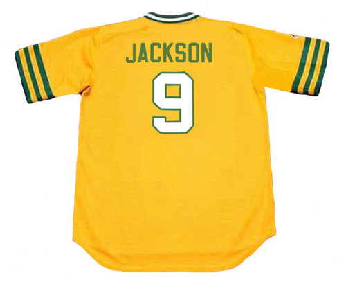 the latest ef09b 298a6 REGGIE JACKSON Oakland Athletics 1972 Majestic Cooperstown Throwback Jersey