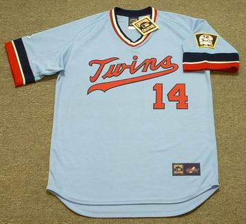 KENT HRBEK Minnesota Twins 1984 Majestic Cooperstown Throwback Baseball Jersey - Front