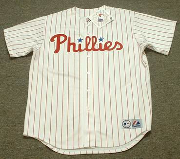 the best attitude abd35 e1381 BOB UECKER Philadelphia Phillies 1966 Home Majestic Throwback Baseball  Jersey