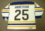 DAVE ANDREYCHUK 1992 CCM Home Buffalo Sabres Jersey - BACK