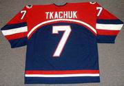 KEITH TKACHUK 2002 USA Nike Olympic Throwback Hockey Jersey