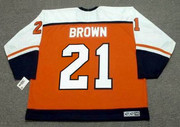 DAVE BROWN Philadelphia Flyers 1993 CCM Throwback Away NHL Hockey Jersey - BACK