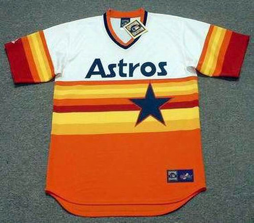 BILL DORAN Houston Astros 1980's Majestic Cooperstown Throwback Baseball Jersey - Front