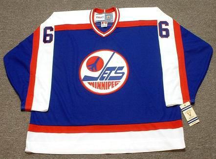 BARRY MELROSE Winnipeg Jets 1979 Away CCM NHL Vintage Throwback Jersey - FRONT