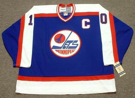 DALE HAWERCHUK Winnipeg Jets 1989 Away CCM NHL Vintage Throwback Jersey - Front