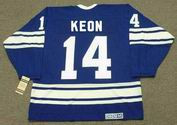 DAVE KEON Toronto Maple Leafs 1967 Home CCM Throwback NHL Hockey Jersey - BACK