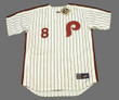 BOB BOONE Philadelphia Phillies 1980 Majestic Cooperstown Throwback Home Baseball Jersey - Front