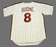 BOB BOONE Philadelphia Phillies 1980 Majestic Cooperstown Throwback Home Baseball Jersey - Back