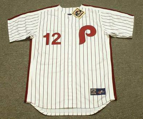 b0e1830365a TONY TAYLOR Philadelphia Phillies 1975 Majestic Cooperstown Throwback Home  Baseball Jersey - Custom Throwback Jerseys