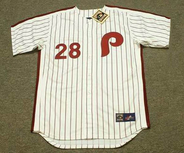 official photos 4ad42 a4286 SPARKY LYLE Philadelphia Phillies 1981 Majestic Cooperstown Throwback Home  Baseball Jersey
