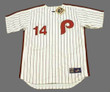 PETE ROSE Philadelphia Phillies 1980 Majestic Cooperstown Throwback Home Baseball Jersey -Front