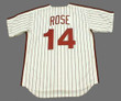 PETE ROSE Philadelphia Phillies 1980 Majestic Cooperstown Throwback Home Baseball Jersey - Back