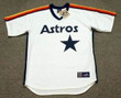 BILL DORAN Houston Astros 1986 Majestic Cooperstown Throwback Baseball Jersey - Front