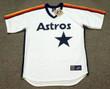 BILL DORAN Houston Astros 1986 Away Majestic Baseball Throwback Jersey - Front