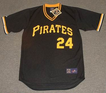 new arrival 008fb dd276 BARRY BONDS Pittsburgh Pirates Majestic Cooperstown Throwback Baseball  Jersey