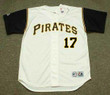 DOCK ELLIS Pittsburgh Pirates 1969 Home Majestic Throwback Baseball Jersey - FRONT