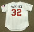 DAN GLADDEN Minnesota Twins 1991 Majestic Throwback Home Baseball Jersey - BACK