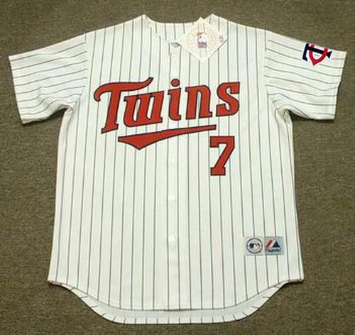 GREG GAGNE Minnesota Twins 1991 Majestic Throwback Home Baseball Jersey - FRONT