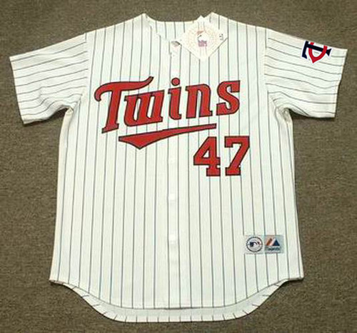 JACK MORRIS Minnesota Twins 1991 Majestic Throwback Home Baseball Jersey - FRONT