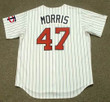 JACK MORRIS Minnesota Twins 1991 Majestic Throwback Home Baseball Jersey - BACK