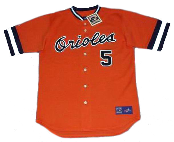 BROOKS ROBINSON Baltimore Orioles 1971 Majestic Cooperstown Throwback Jersey
