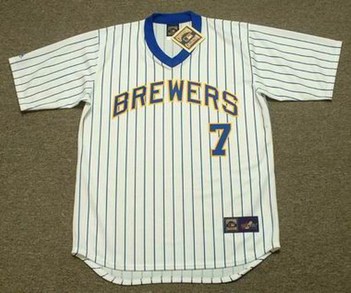 Dale Sveum 1987 Milwaukee Brewers Cooperstown Home MLB Throwback Baseball Jerseys - FRONT